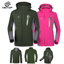 Tectop Outdoor Waterproof Jacket Men Women Winbreaker Thermal Windproof Softshell Jacket Women Waterproof Hiking Windbreaker Men