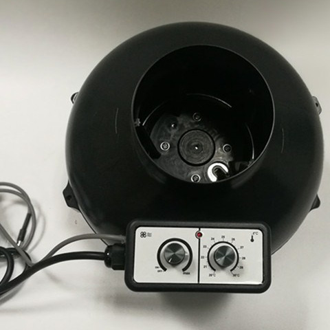 100mm Extract Inline Fans With Speed Control  And Temperature Sensor Air Inline Fan For GreenHouse Grow Plant Tent 4inch