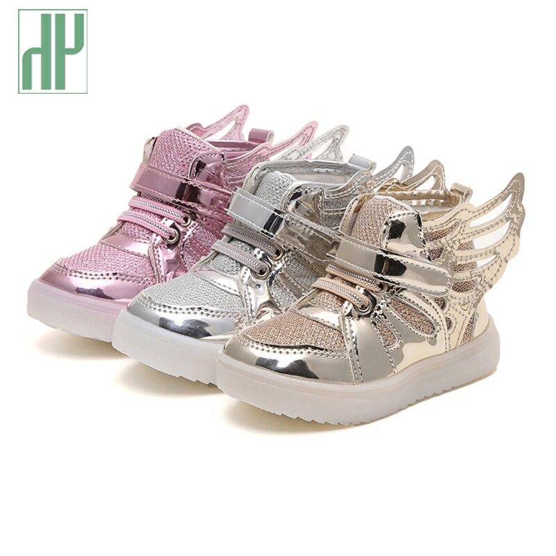 Size 21-36 led sneakers kids Anti-Slip Sports toddler boys girls shoes children lighting shoes Luminous Flasher glowing sneakers