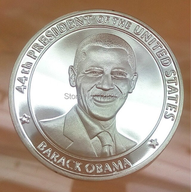 high quality 44th president of the united states barack obama america gold plated souvenir coin - Presidents Of The United States Of America