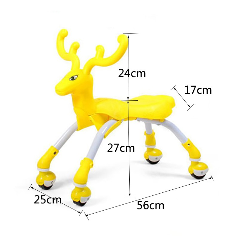Small-Children-Four-Round-Car-Elk-Deer-Cars-Toy-Yo-Twist-Scooter-For-Children-Ride-On-Animal-Toys-TD0071 (2)