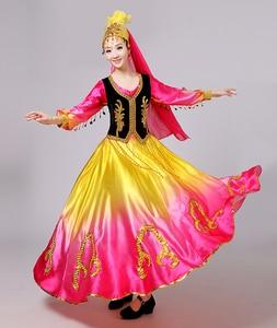 Image 5 - Одежда для китайских народных танцев, профессиональная женская юбка качели для выступлений и выступлений, сценическое платье для выступлений и выступлений