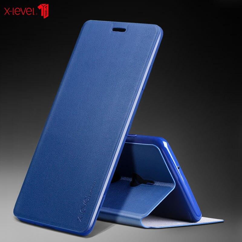 5a9c9a3dc9f X-Nivel de cuero Flip para Sony Xperia XZ2 XA2 XZ3 XA3 Premium Ultra  delgado de cuero de negocios Funda cubierta caso