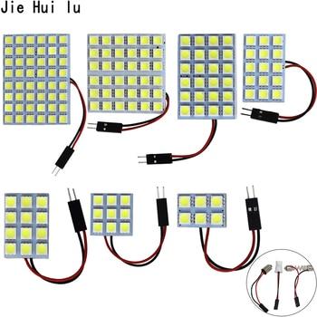 1 ensemble voiture panneau lecture carte lampe 5050 6 9 12 15 24 36 48 LED SMD dôme intérieur ampoule toit lumières BA9S T10 C5W adaptateur Festoon Base