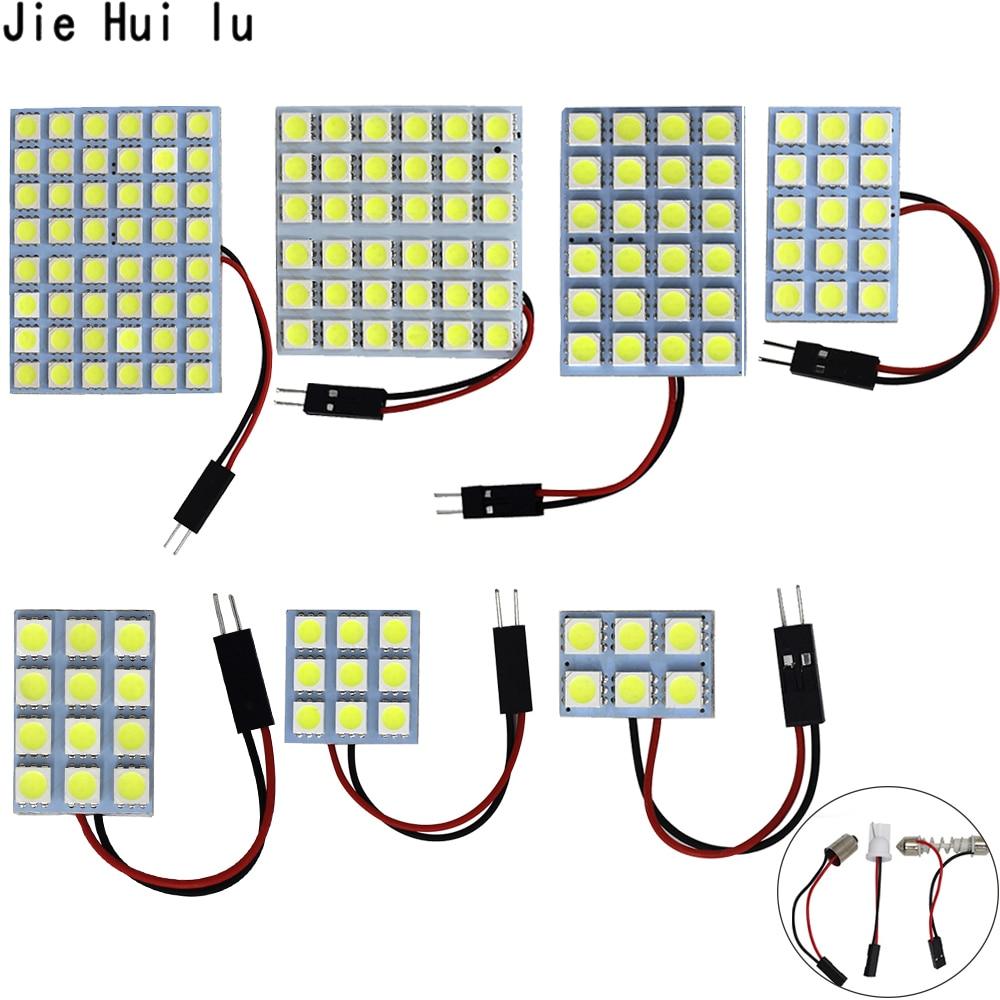 1 компл. автомобиля Панель чтение карты лампы 5050 6 9 12 15 24 36 48 светодио дный SMD купольный подкладке лампа на крышу огни BA9S T10 C5W адаптер фестонова...