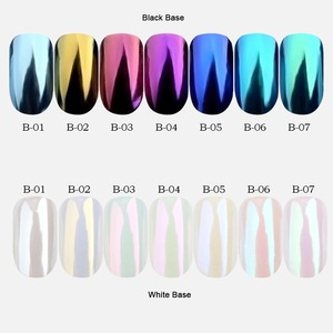 Image 4 - Mirror Glitter Nail Chrome Pigment Laser Holographic Silver Powder Nail Glitter Nail Art Decorations Manicure Tool CHB01 07 2