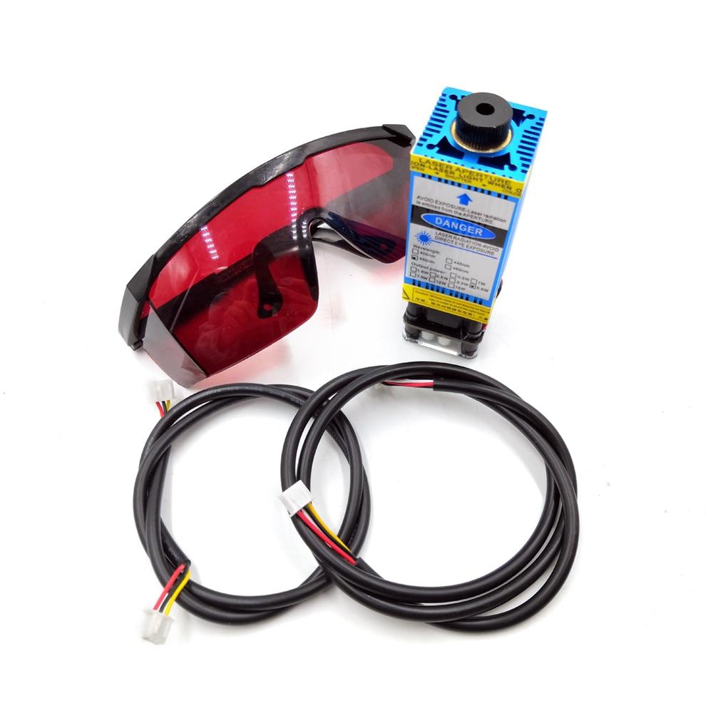 corte ttl pwm controle tubo laser diodo + óculos