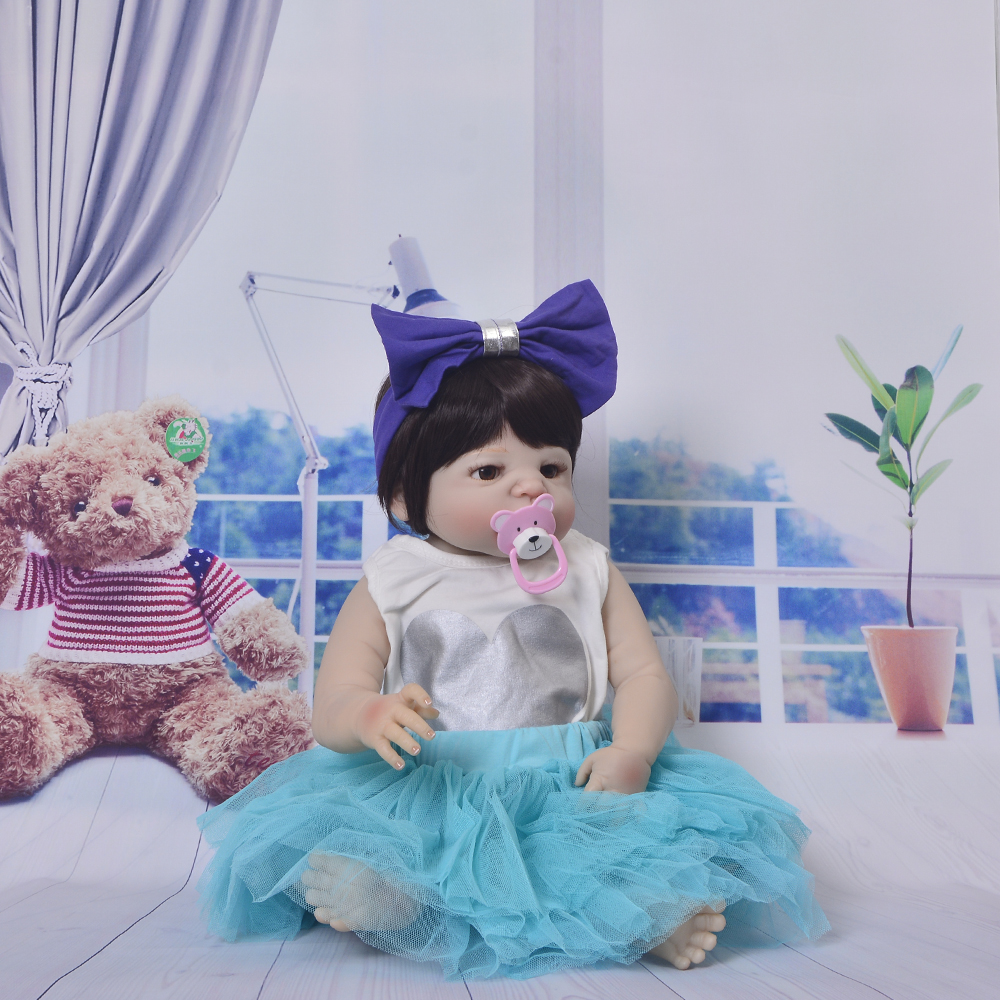 So Truly Newborn Dolls Full Vinyl Body Doll Toys For Girl Fashion 23 Realistic Silicone Reborn Baby Dolls Childrens Day Gifts