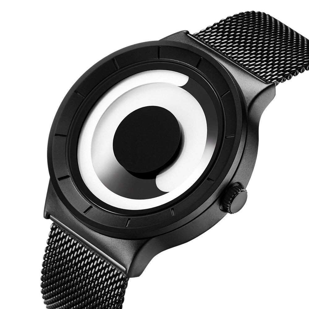 Unique Vortex Concept Watch Men 316L Stainless Steel Milan Band Black Sport Wrist Watches for Men Clock Relogio Masculino Saat