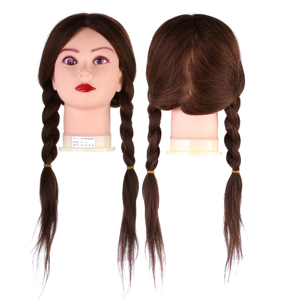 d52d74aded1 Hairdressing Training Mannequin Practice Head Brown Long Human Hair for  salon and personal use