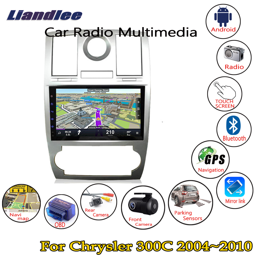 Liandlee 9 HD touch For Chrysler 300C 300 2004 2010 Car Android Radio Player GPS Navi