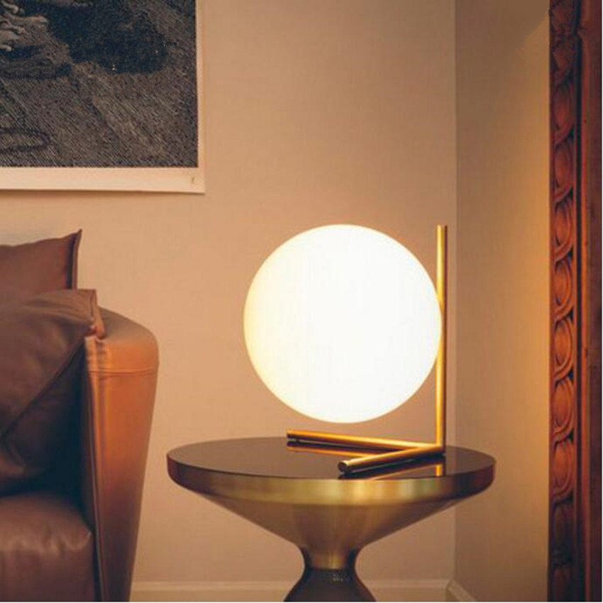 Modern LED Table Lamp Gold Iron And Glass Lamp Shade Metal Lighting Indoor Light Desk Bedroom Office Table Lamps коврик для мышки printio ho ho ho