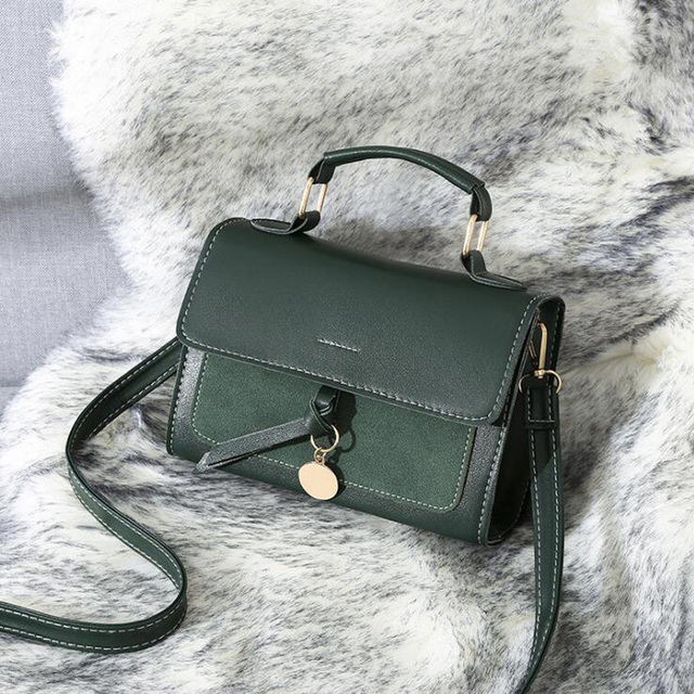 REPRCLA New Luxury Women Leather Handbag High Quality PU Shoulder Bag Brand Designer Crossbody Bags Small Fashion Ladies Bags 1