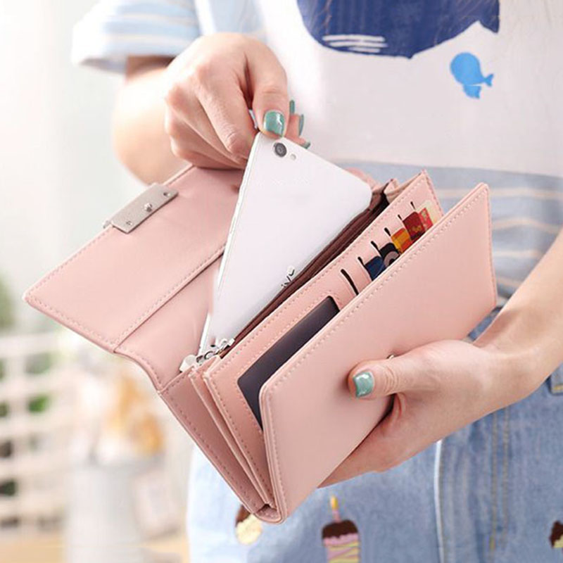 Women's Purse Women Wallet Long Passport Bag Fashion Female Coin Clutch Card Holder Luxury Designer Simple Wallets Female Purse
