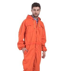 Image 3 - رجل عامل مصلح آلة إصلاح السيارات ميكانيكا عامل منجم كولير جودة عالية البرتقال المآزر ملابس العمل وزرة الحرة آخر