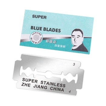 100pcs Brand Razor Blades for Men Face Clean Stainless Steel Double Edge  Super Blue Shaving Shaver Blades Safety Razor Blades