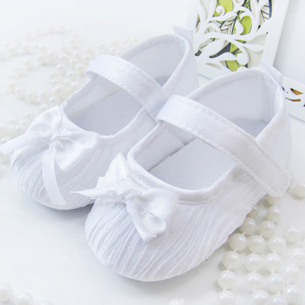 New Born Baby Girls First Walkers Shoes Toddler Infant Soft Prewalker Anti-Slip Shoes Wedding Princess Shoes New