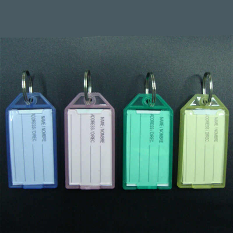 1 PC Plastic Bagage Tags Naam Adres ID Sleutelhanger Koffer Bagage Kaart Etiket Reizen Accessoires Willekeurige Kleur