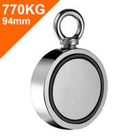 Pulling Force Rare Earth Magnet New Style Double Sided Neodymium Fishing Magnets 94mm Diameter Combined 1696Lbs 770Kg strong hot