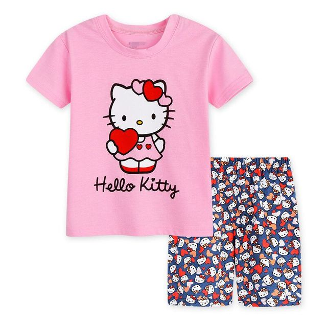 7f281b240 Baby Kids Summer Pijamas Toddler Girls Summer Short Sleeve Printed ...