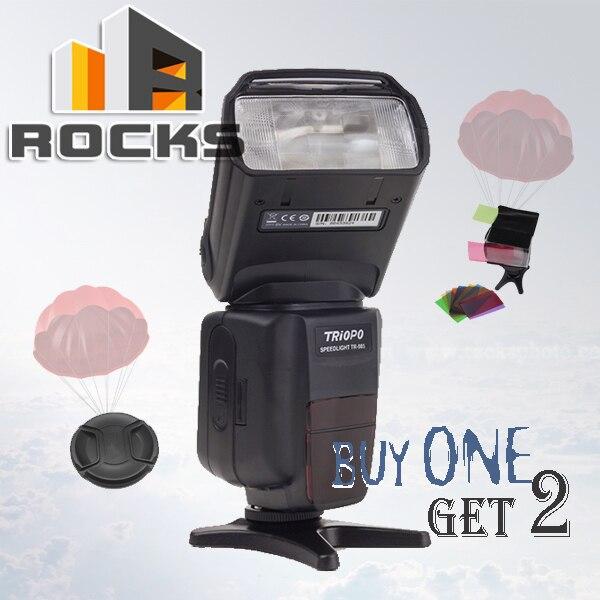 Buy 1 flash get 2 gift !Triopo TR-985 Color LCD i-TTL 1/8000 HSS Wireless Speedlite Suit For Nikon D750 D810 D4S D3300 Df D5300