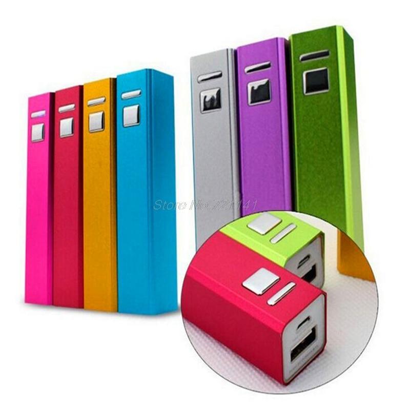 1 PC Aluminum USB 18650 Battery Charger 2600mAh Power Bank DIY Kit For IPhone 5S 6S Electronics Stocks