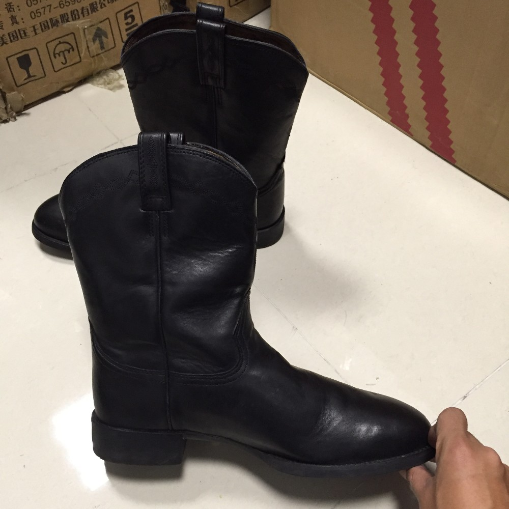ARIAT Men Cowhide Riding boots Cowboy boots Round Toe on ...