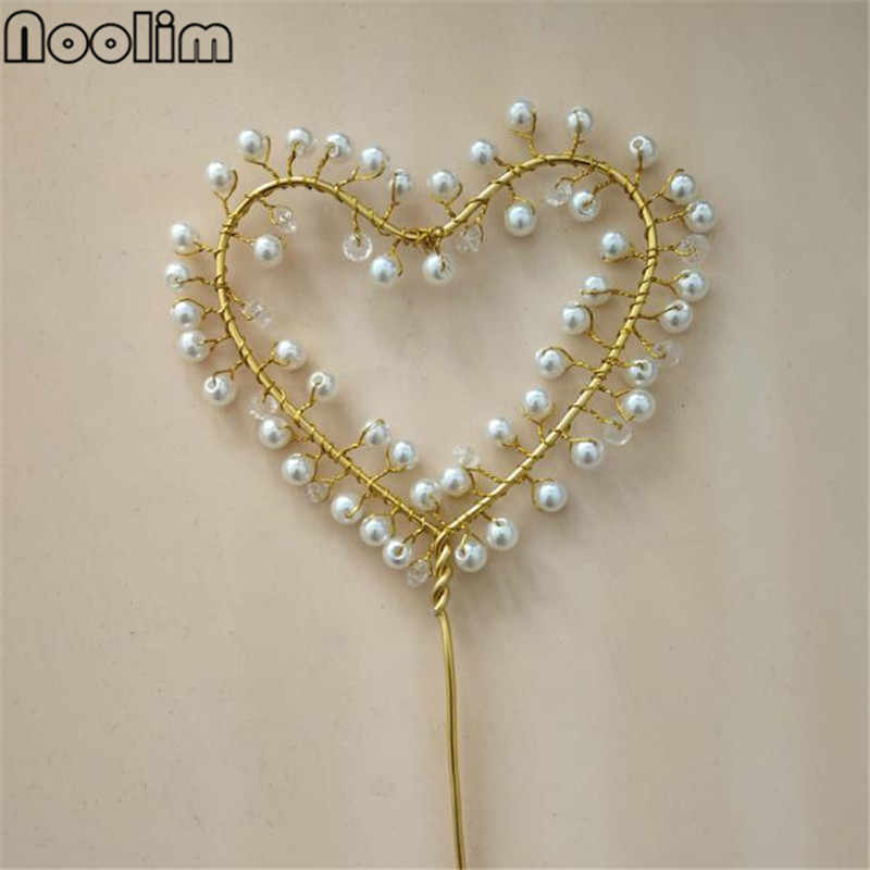 5Pcs/Lot Metal Beautiful Simulation Pearl Cake Decoration Suppliers Wedding Party Home Cake Dessert Accessories Girl Favor Decor