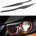 E90 FRP Primer Car Headlight Eyelid Eyebrows Cover Trim Sticker for BMW E90 2005-2012 Free shipping