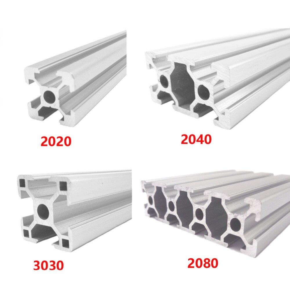 4pcs/lot 2020 Aluminum Profile 2020 Extrusion European Standard Anodized Linear Rail Aluminum Profile 2020 CNC 3D Printer Parts