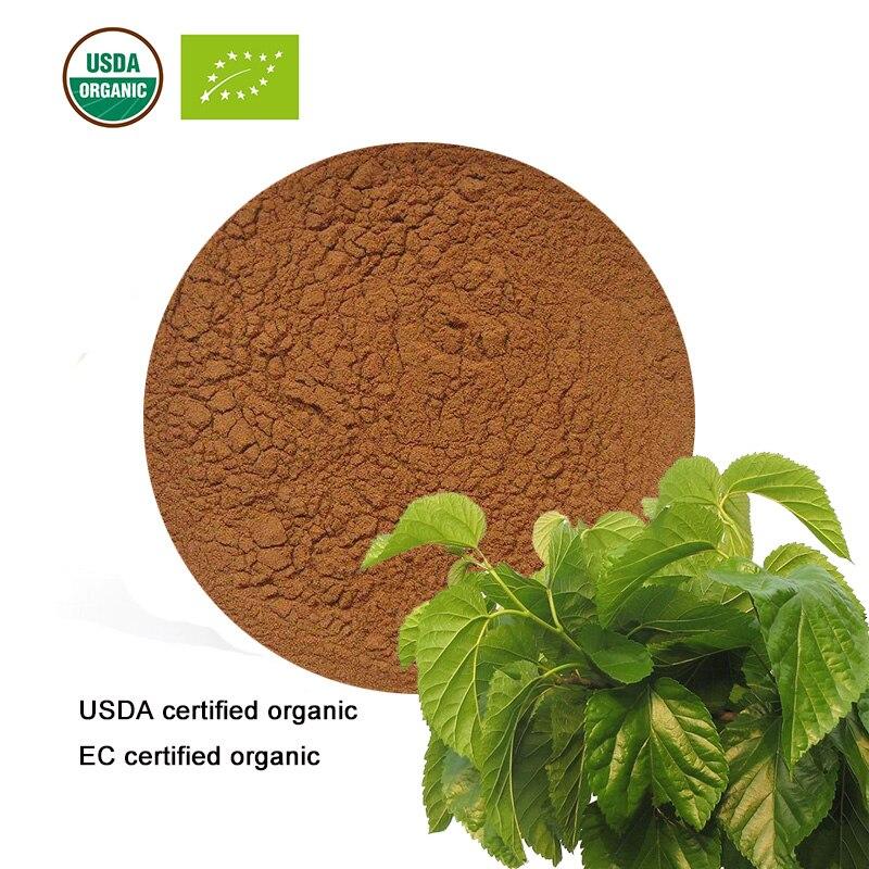 GüNstiger Verkauf Usda Und Eg Zertifiziert Organic Mulberry Leaf Extract 10:1 1-deoxynojirimycin 1-dnj Dnj Fabriken Und Minen Schönheit & Gesundheit