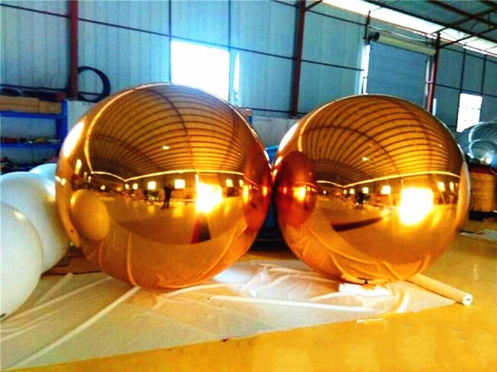 HEISSE 5 Farben-neue Ankunfts-reflektierende riesige aufblasbare Spiegel-Kugel Heißer Verkaufs-riesige aufblasbare Kugel für die Werbung