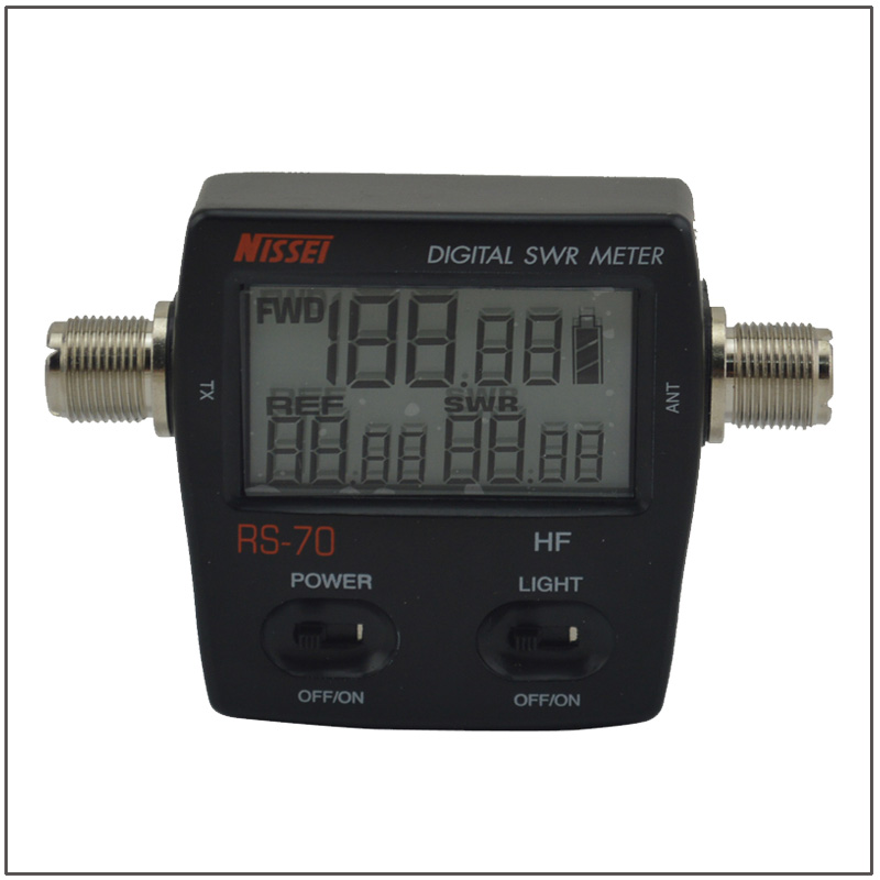 NISSEI RS-70 RS70 Digital SWR/Power Meter HF 1.6-60MHz 200W  M Type Connector SWR Power Meter for HF walkie talkie Two-way Radio