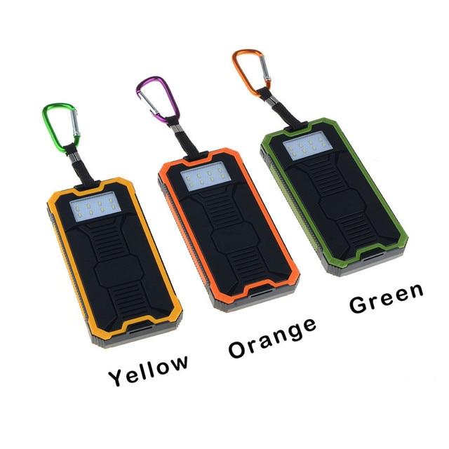Солнечной Зарядки Сокровище Power Bank 10000 мАч Powerbank Портативное Зарядное Внешняя Батарея Для Apple Iphone Samsung VHG44 T0.41