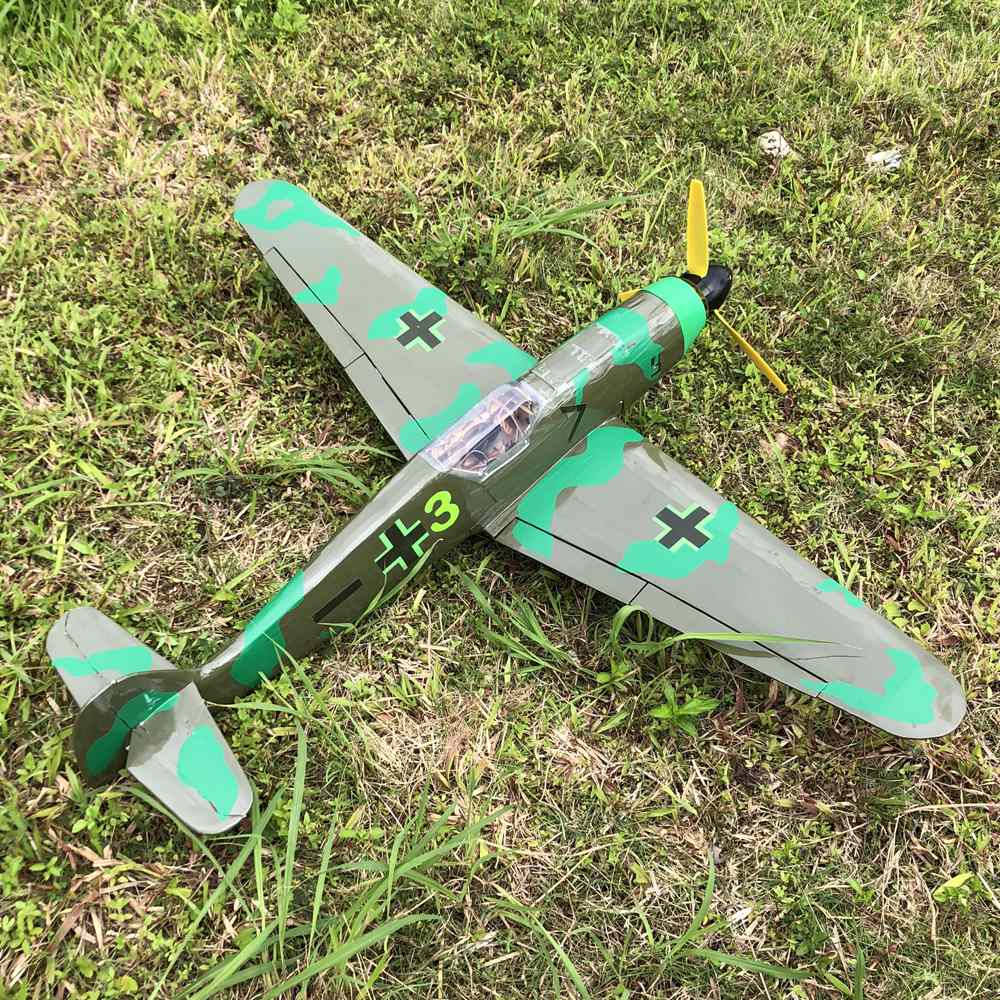 RC Airplane toy Kit DIY RC warbird BF109 ME 109 1400mm wingspan Free Shipping
