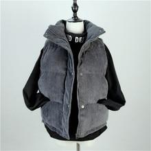 Vest Coat Winter Jacket Short Warm Thick Autumn Fashion Women Cotton New Corduroy S1228