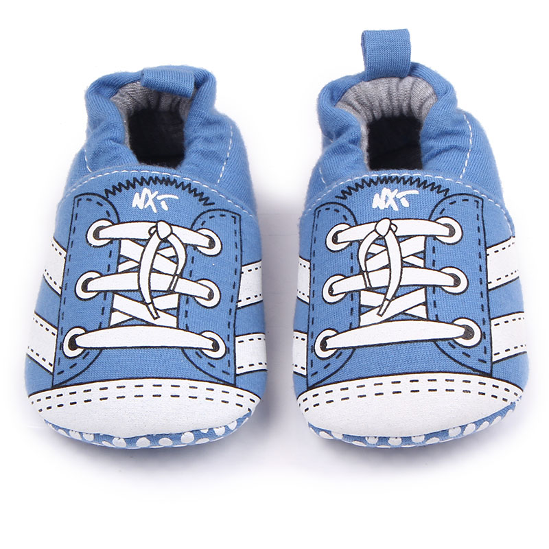 New Arrival Knitting Stripe Cotton Infant Toddler Cute Baby Girl Boy Prewalk Shoes For 0-15 Months
