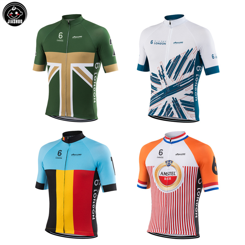 sale retailer 85d65 ccdde US $13.39 33% OFF Multi NEW 2018 Classical LONDON UK FRANCE BELGIUM Maillot  pro RACE Team Bike Cycling Jersey Tops Breathable Customized Jiashuo-in ...