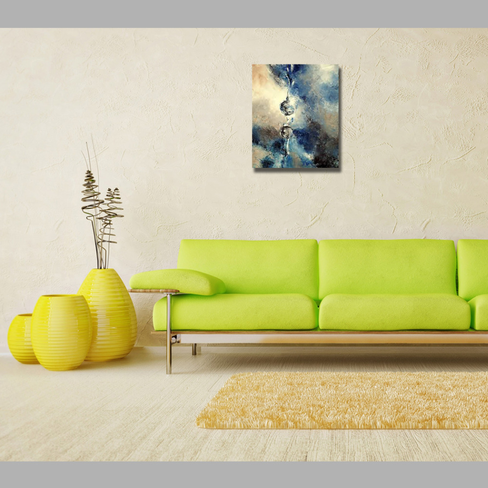 Modern Canvas Wall Art Abstract 100% Hand Painted One Drop Water ...
