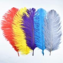 """50 шт./лот Окрашенные Перья страуса для рукоделия 16-1"""" 40-45 см белые перья из страусовых перьев Свадебные украшения карнавал"""