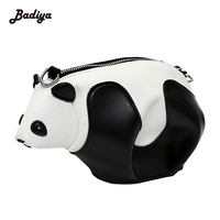 Nova Chegada de Grande Capacidade Bolsa Para Mulher Patchwork Panda Dos Desenhos Animados Das Mulheres Sacos Crossbody PU Senhoras De Couro Saco Do Mensageiro Bolsas