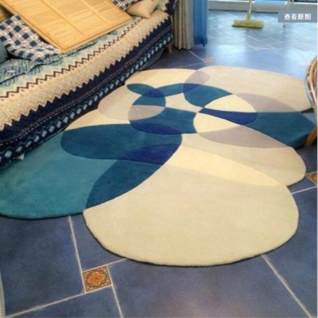 Ручной Работы Акрил в форме Ковры ковры и Ковры S для Гостиная Коврики Европейский современный Спальня Кофе таблица диван комнате