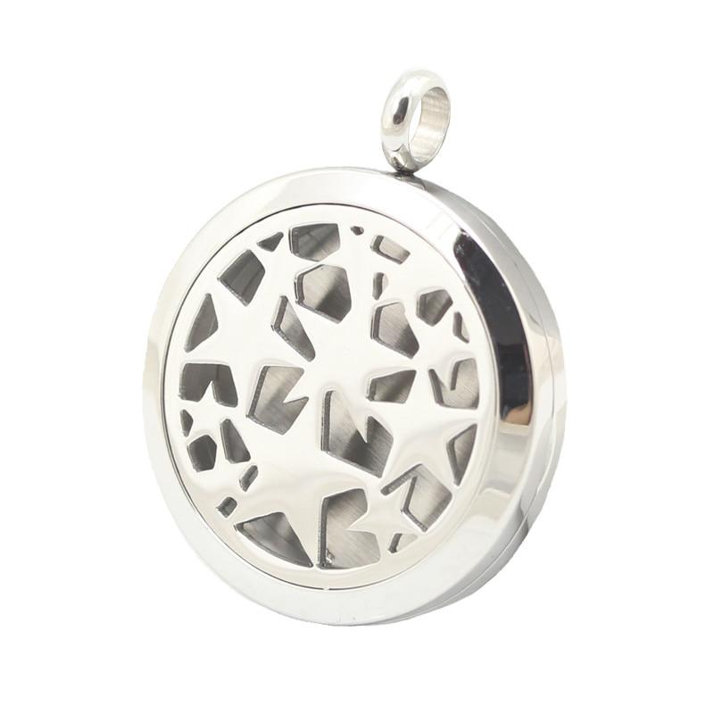 10 pièces 30mm acier inoxydable étoiles Premium aromathérapie huile essentielle diffuseur médaillon pendentif femmes collier-in Pendentifs from Bijoux et Accessoires    1