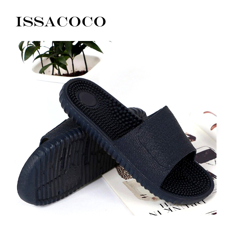 ISSACOCO 2018 Shoes Men Slippers Sandals Indoor Home Non-slip Solid - Men's Shoes - Photo 5
