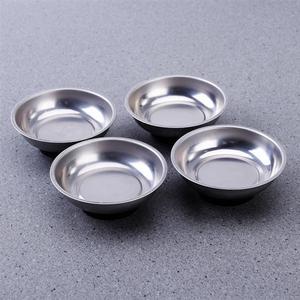 Image 2 - WINOMO 4 pièces 3 pouces en acier inoxydable porte outils rond pièces magnétiques plateau bol vis outils de stockage pièces porte plateau