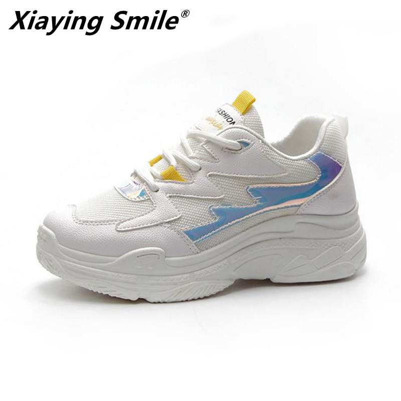 Xiaying Smile new style woman sports running shoes women sport shoes outdoor sneakers women running sneakers design size 35-40 smile design