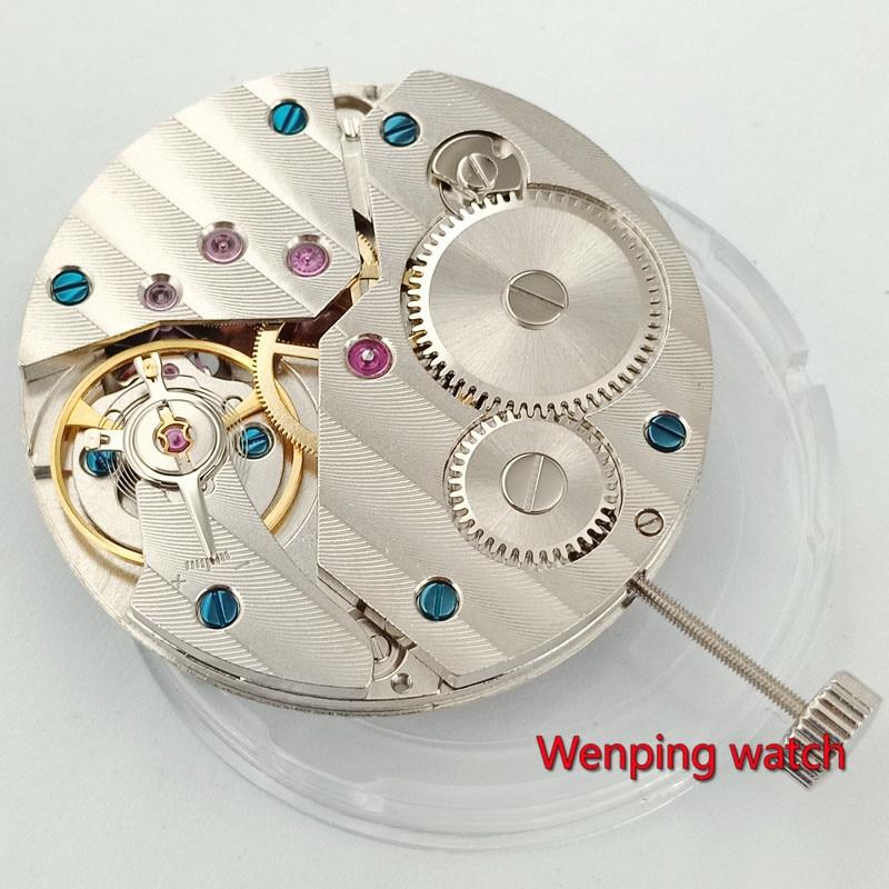 PARNIS mouvement de montre 17 bijoux mécanique asie 6497 mouvement à remontage à la main pour montre pour hommes montre bracelet hommes P29-in Montre Visages from Montres    1