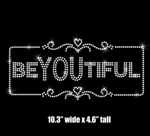2pc/lo BeYOUtiful iron on rhinestone applique patch iron on design rhinestone applique p ...