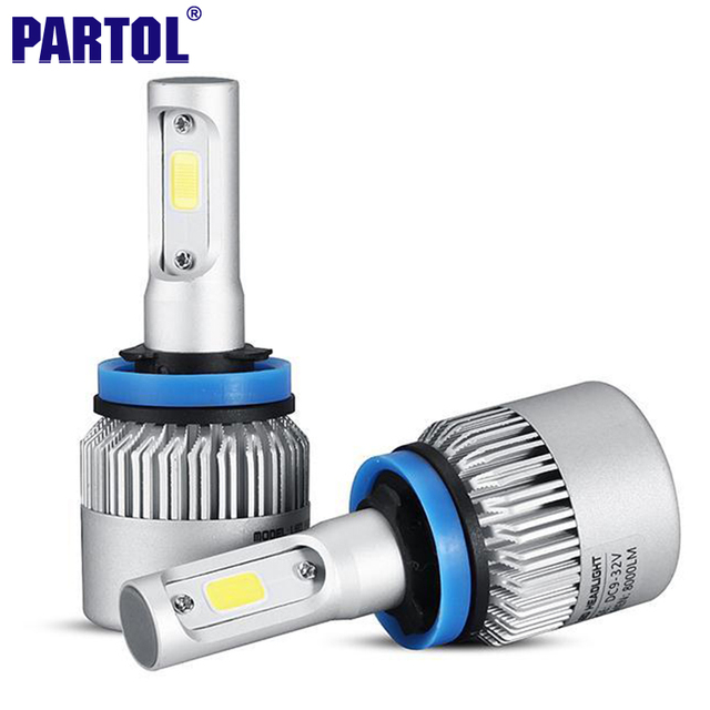 S2 Partol 72W 8000LM H11 COB LED Headlight Car Led Headlights Bulb Fog Light 6500K 12V for Toyota VW Hyundai Kia Chevrolet Mazda