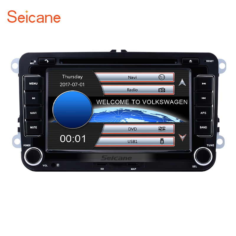 7 2Din Car Radio CD DVD Multimedia Player GPS Navigation For Seat Toledo VW POLO PASSAT Transporter Sharan Skoda Rapid/Fabia